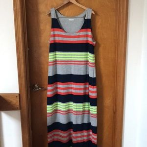 Striped Maxi Dress T-shirt Material